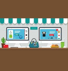 online sales vector image