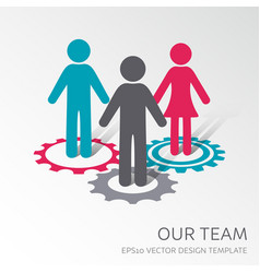 Our company team icon vector