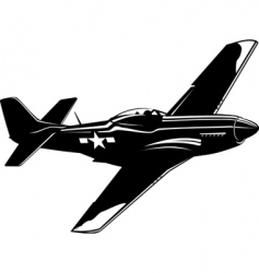 p51 mustang vector image