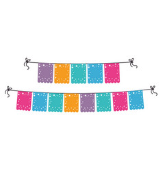 party garlands decoration icon vector image