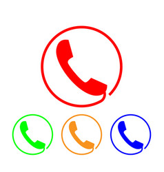 phone icon sign handset vector image
