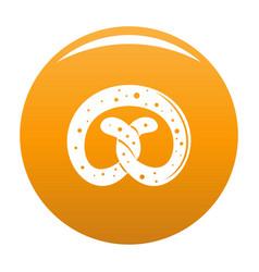 Pretzel icon orange vector
