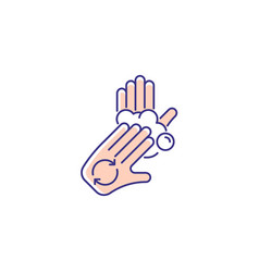 Rub palms with fingers rgb color icon vector