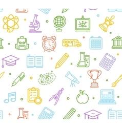 School Background Pattern vector image vector image