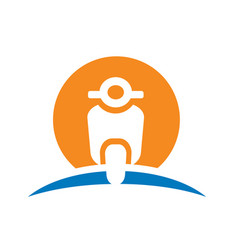 scooter bike logo icon vector image