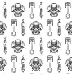 Seamless pattern of car parts vector image