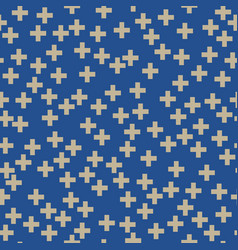 Seamless pattern of plus sign vector