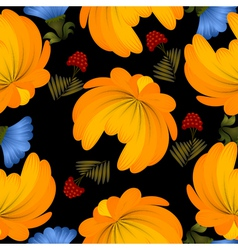 Seamless texture with yellow flowers vector image