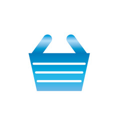 shopping basket symbol vector image
