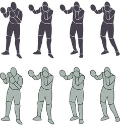 Silhouette person boxeo vector