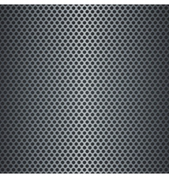 Silver metallic grid background vector image