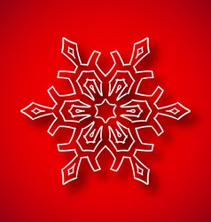 Snowflake with shadow vector image