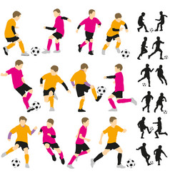Soccer football children boys playing vector