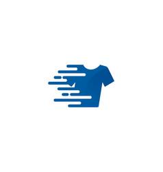 Speed laundry logo icon design vector