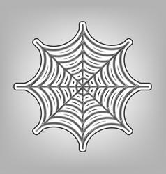 spider on web pencil sketch vector image