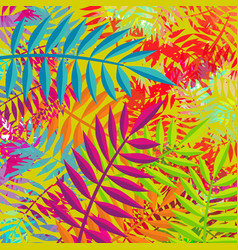 Summer abstract plant leaf nature decoration art vector