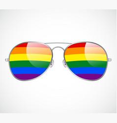 Sunglasses aviator abstract rainbow lenses vector