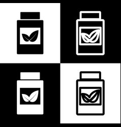 supplements container sign black and vector image