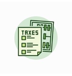 Taxes green icon vector