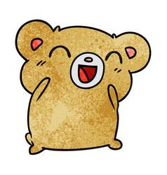 Textured cartoon kawaii cute hamster vector
