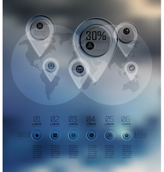 Transparent business Infographics diagram on blur vector