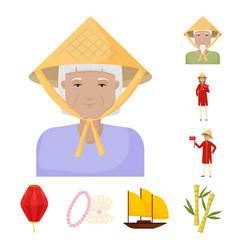 Vietnam and tourism logo vector