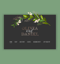 wedding salon internet shop floral landing page vector image
