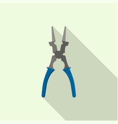 welder metal cut scissor icon flat style vector image