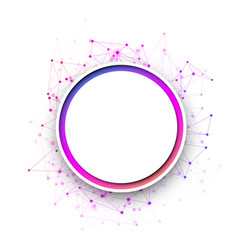white round communication background with colorful vector image