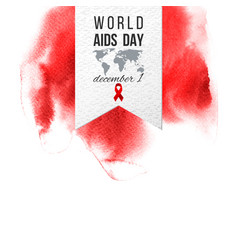 World aids day december 1 emblem vector