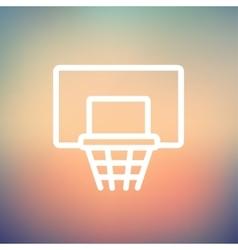 Basketball hoop thin line icon vector image vector image
