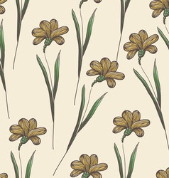 Endless floral pattern vector image vector image