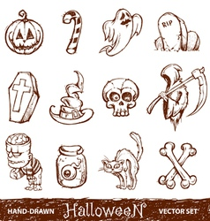 hand drawn halloween vector image vector image