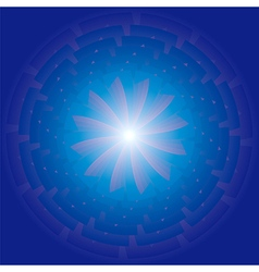 Radiating spiral star vector image vector image