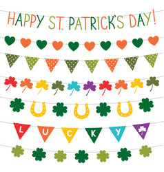 st patricks day banners set vector image