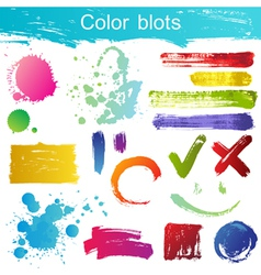 blots set vector image