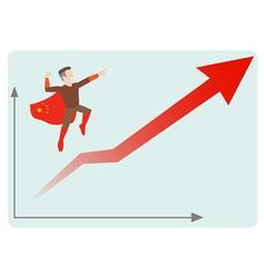 china economics rising vector image vector image