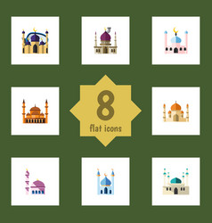 flat icon building set of religion mohammedanism vector image