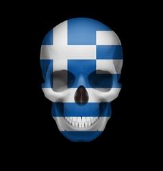 Greek flag skull vector