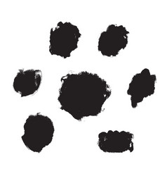 ink and paint texture set isolated on a white vector image
