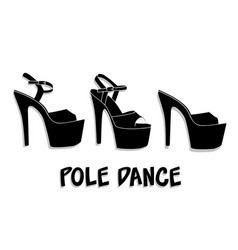 Pole dance sexy shoes high heels pattern vector