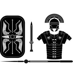 roman armor vector image vector image