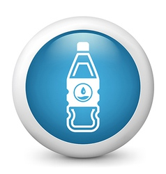 Water Bottle glossy icon vector image vector image