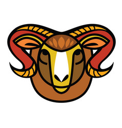 drawing head of ram vector image vector image