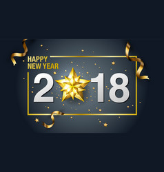 happy new year 2018 design template layout vector image vector image