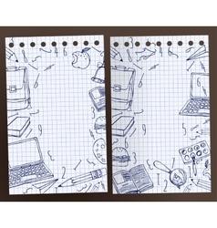 School Test Book 02 A vector image