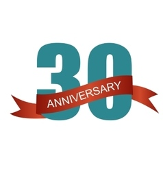 Thirty 30 Years Anniversary Label Sign for your vector image