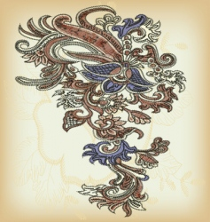 vintage ornamental design vector image vector image