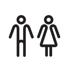 WC line icons vector image