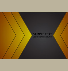 Abstract gold and black background with copy space vector
